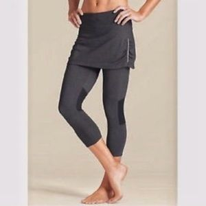 Athleta Contender 2 in 1 gray skirt leggings Large
